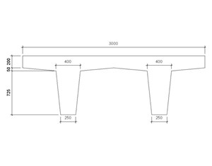 LOD 5 2D Section representation of Concrete platform units.