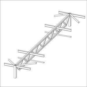 LOD 3 Model representation of Softwood trussed rafters.