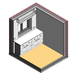 LOD 3 Model representation of Roller blinds.