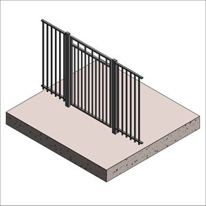 LOD 3 Model representation of Carbon steel gates.