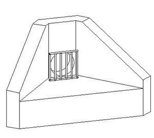 LOD 4 Model representation of Precast concrete headwall units.