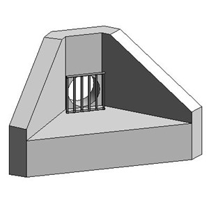 LOD 5 Model representation of Precast concrete headwall units.