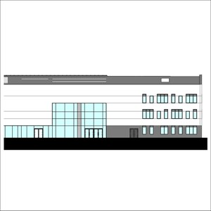 LOD 2 Elevation representation of Aluminium louvre panel units.