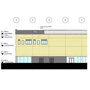 LOD 3 Elevation representation of Concrete structural insulated panels (SIPs).