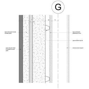 LOD 4 2D Detail representation of Concrete structural insulated panels (SIPs).