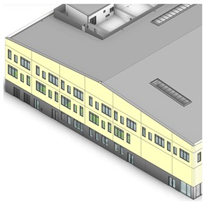 LOD 4 Model representation of Concrete structural insulated panels (SIPs).