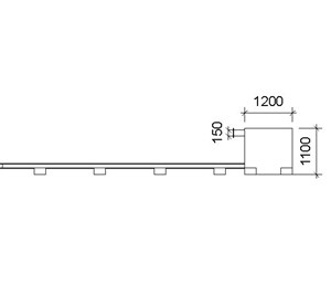 LOD 3 Elevation representation of Fixed train arrestors.