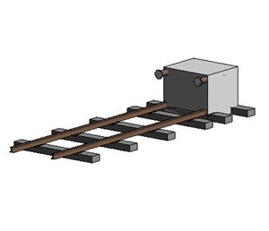 LOD 3 Model representation of Fixed train arrestors.