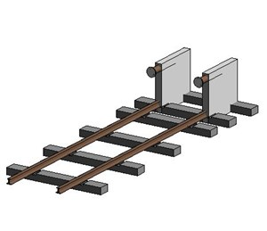 LOD 4 Model representation of Fixed train arrestors.