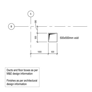 LOD 5 Plan representation of Access covers, gratings and frames.