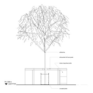 LOD 3 2D Section representation of Artificial trees.