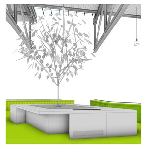 LOD 4 Model representation of Artificial trees.