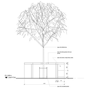 LOD 4 2D Section representation of Artificial trees.