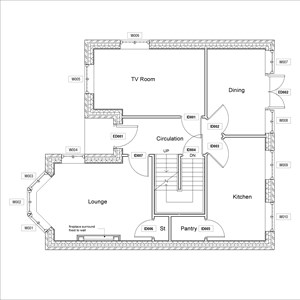 LOD 3 Plan representation of Fireplace surrounds.