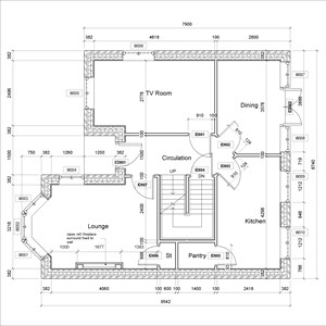 LOD 5 Plan representation of Fireplace surrounds.