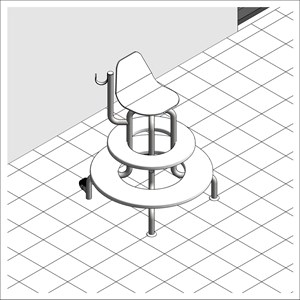 LOD 5 Model representation of Fixed observation poolside chairs.