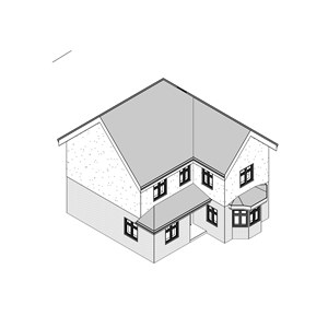 LOD 2 Model representation of Fibre-reinforced cement weatherboards.
