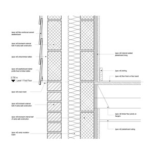 LOD 4 2D Detail representation of Fibre-reinforced cement weatherboards.