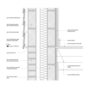 LOD 5 2D Detail representation of Plastics weatherboards.