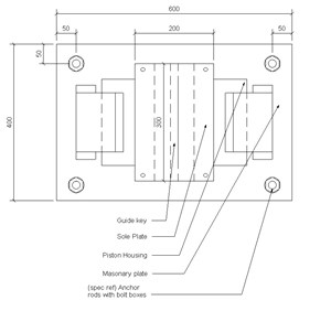 LOD 5 Plan representation of Guide bearings.