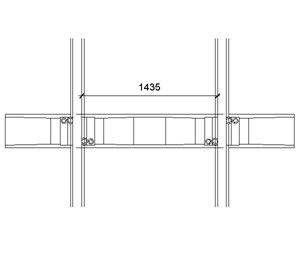 LOD 4 Plan representation of Concrete monoblock sleepers.