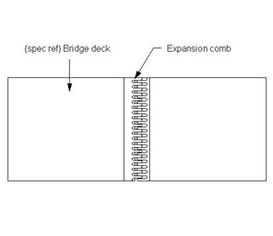 LOD 3 Plan representation of Cantilever expansion comb or tooth joints.