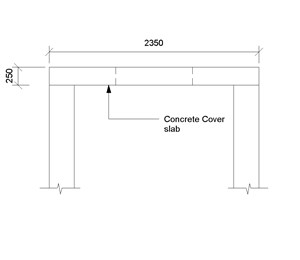 LOD 3 2D Section representation of Concrete shaft cover slabs.