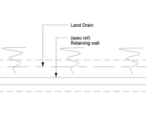 LOD 3 Plan representation of Filter drain pressure relief systems.