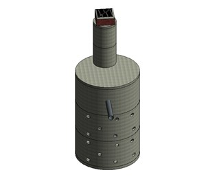 LOD 5 Model representation of Below-ground drainage concrete soakaway systems.