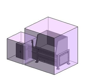 LOD 4 Model representation of Waste compactor systems.