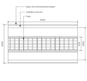 LOD 4 Plan representation of Tunnel ventilation systems.