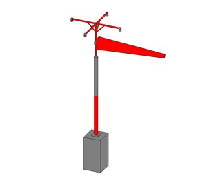 LOD 5 Model representation of Windsock systems.