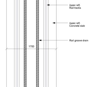 LOD 3 Plan representation of Ballasted rail track systems.