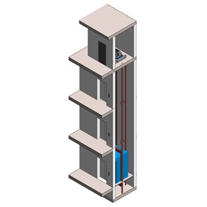 LOD 4 Model representation of Electric lift systems.