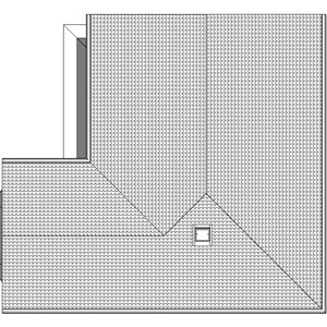 LOD 2 Plan representation of Eaves gutter brackets.