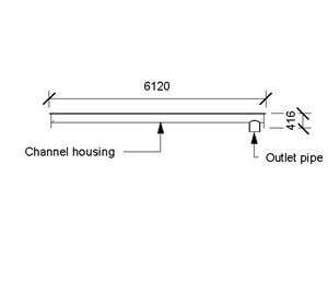 LOD 5 2D Section representation of Launder troughs.
