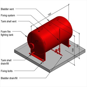 LOD 5 Model representation of Foam fire fighting tanks.