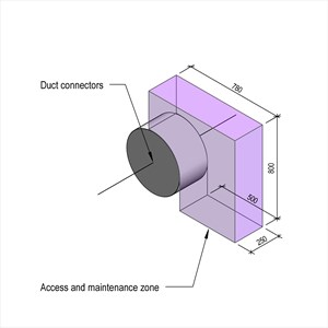 LOD 3 Model representation of Axial flow fans.