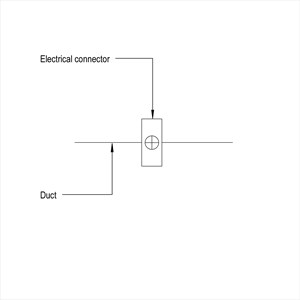 LOD 3 Plan representation of Electric heater batteries.