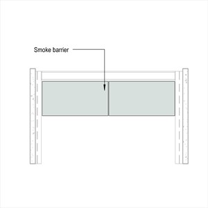 LOD 4 Elevation representation of Static smoke barriers.