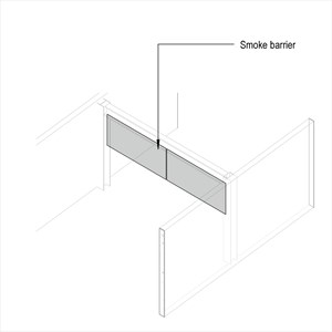 LOD 4 Model representation of Static smoke barriers.