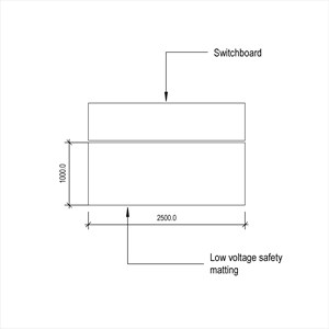 LOD 4 Plan representation of Low voltage safety matting.