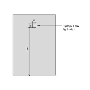 LOD 4 Elevation representation of Architrave switches.