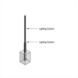 LOD 4 Model representation of Steel lighting columns.