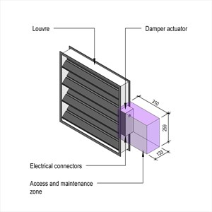 LOD 3 Model representation of Damper actuators.