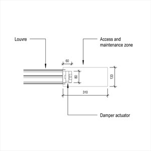 LOD 4 Plan representation of Damper actuators.
