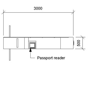 LOD 3 Plan representation of Passport readers.