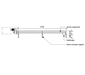 LOD 3 2D Section representation of Screw conveyors.