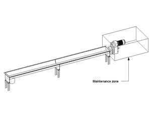 LOD 4 Model representation of Screw conveyors.